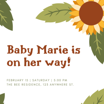 please join us for Marie Bee (3)